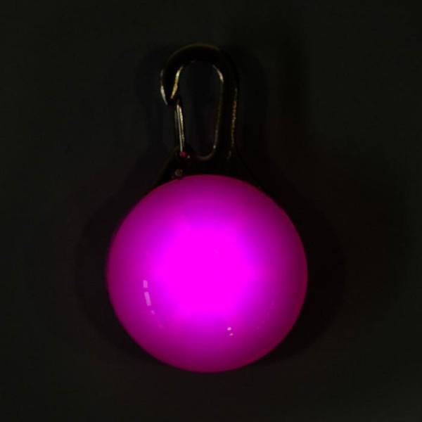 """Маячок """"Сфера"""", 3 режима свечения, розовый"""