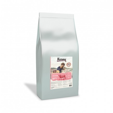 Сухой корм для собак  Karmy Delicious Medium & Maxi Телятина 15кг