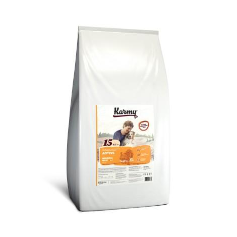 Сухой корм для собак Karmy Active Medium & Maxi Индейка 15кг