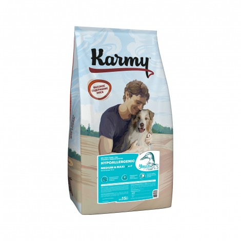 Сухой корм для собак Karmy Hypoallergenic Medium & Maxi Утка 15кг