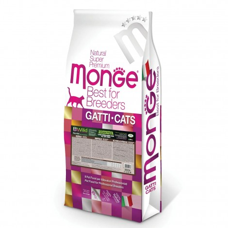 Сухой корм Monge для кошек PFB Cat BWild Grain Free беззерновой из мяса буйвола 10 кг