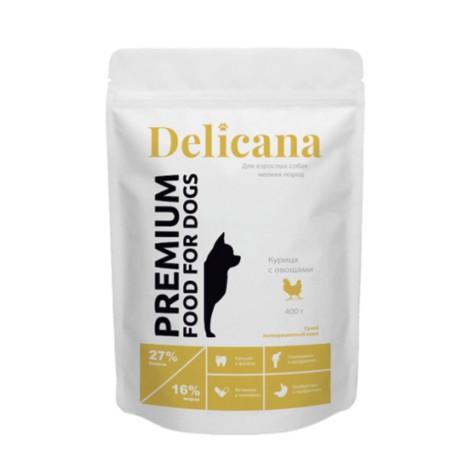 Сухой корм Delicana для собак мелких пород курица с овощами 400г