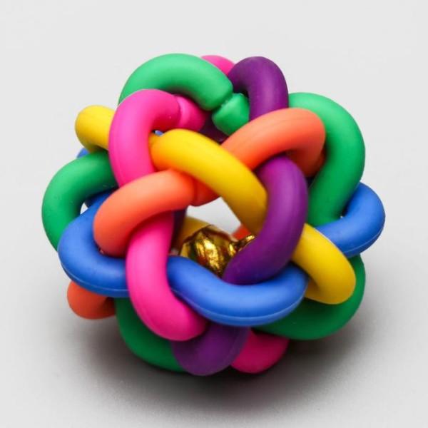 """Игрушка резиновая """"Молекула"""" с бубенчиком, 4 см"""
