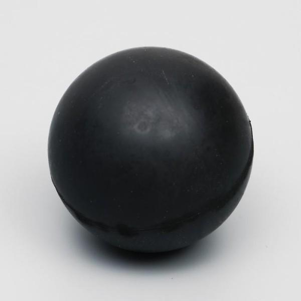 """Игрушка """"Цельнорезиновый мяч"""", 6,5 см, черный"""